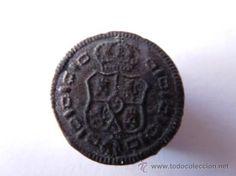 precioso Boton civil con escudo toisonado 1728-1868