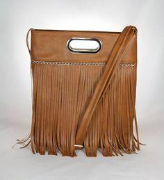 kabelka Lora hnedá XL strapce