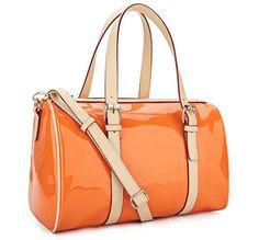 Orange Women Candy Colors Satchel Hobo Purse Orange Shoulder Handbag Hand Totes