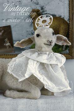 Christmas sheep from Vintagebynina, A winter's tale