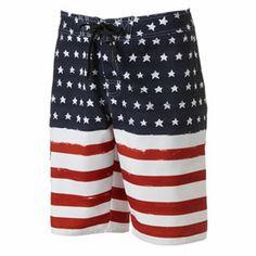 Every guy needs these Americana Board Shorts from @kohls for #FourthofJuly