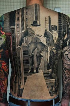 See more 3D illusion tattoos on back