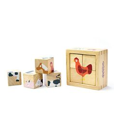 Look what I found on #zulily! Farm Animals Buddy Block Set by BeginAgain #zulilyfinds