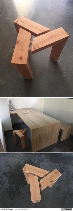 Awesome stool/bench idea I'd like to build. #customstools #custombench #diystoolideas