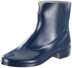 Michaela 2218-0-700-36 Ladies' Wellington Boot PVC with Heel Profile Song Wide Opening Marine Blue Size 3.5 PVCWith recess, profile soles and wide openings  BOOTS, footwear, high heels, SHOES, Slippers, wellington boots