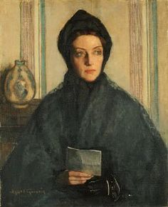 "It's About Time: Women by Agnes Noyes Goodsir (Australian painter, 1864-1939.) ""The Letter,"" 1926."
