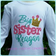 Big Sister Little Sister Shirts Matching by CescasCustomCreation