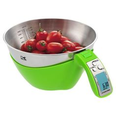Kalorik Measuring Bowl Scale in Lime  Check for latest designs of scales   http://www.elitescale.com/  #foodscales #commercialscales #scales