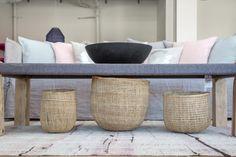Handmade, fair trade baskets in Lost & Found modern home store in Santa Monica, Los Angeles