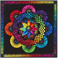 Circle Of Life Paper Pieced Quilt Pattern Be Colourful Jacqueline de Jonge DIY Quilting Foundation Piecing  This is so beautiful I can almost not fathom it.