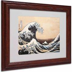 Trademark Fine Art The Great Wave Canvas Art by Katsushika Hokusai, Wood Frame, Size: 16 x 20, Multicolor