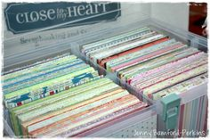 Paper storage in Close to my Heart organizers.
