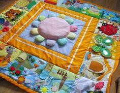 Развивающие игрушки ручной работы. Ярмарка Мастеров - ручная работа. Купить Развивающий коврик Большой. Handmade. Комбинированный, времена года