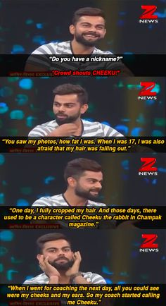 """16 Candid Revelations From Virat Kohli And Aamir Khan's Diwali Special Show 16 Candid Revelations From Virat Kohli And Aamir Khan's Diwali Special Show<br> """"Everything I've learnt in the last three-four years, I've learnt from Anushka. India Cricket Team, World Cricket, Cricket Sport, Funny Memes Images, Cute Funny Quotes, Funny Facts, Spell Your Name Workout, Virat Kohli Quotes, Crickets Funny"""