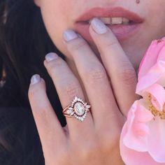 Moissanite Wedding Rings, Diamond Wedding Rings, Bridal Rings, Wedding Bands, Engagement Ring Settings, Engagement Rings, Three Rings, Lab Created Diamonds, Oval Diamond