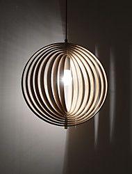 40w Lampe suspendue ,  Contemporain / Rustique Bois Fonctionnalité for Designers Bois/BambouSalle de séjour / Salle à manger /