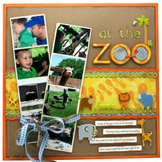 At the Zoo scrapbook layout