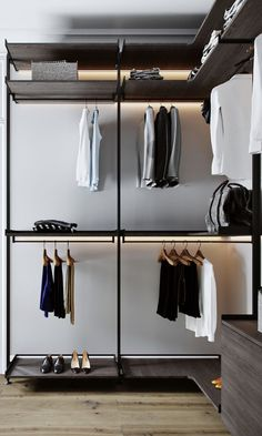 Walk In Closets - Designs & Ideas Open Wardrobe, Wardrobe Room, Wardrobe Design Bedroom, Closet Bedroom, Walk In Closet Design, Closet Designs, Dressing Room Design, Home Room Design, Interior Design