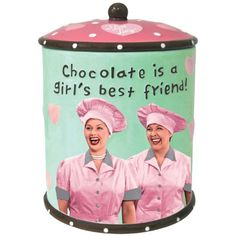 Westland Giftware I Love Lucy Chocolate Factory Cookie Jar, 9-Inch Westland Giftware http://smile.amazon.com/dp/B004DES1AK/ref=cm_sw_r_pi_dp_rZULtb0KC6S144AM