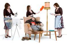 Household Chores Still Women's Work