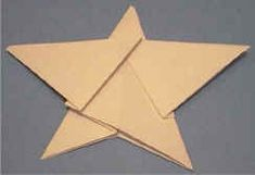 Origami star craft. low cost