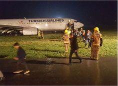 Boeing 737 da Turkish Airlines sai da Pista em Pristina; com vídeo