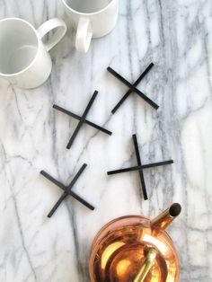 DIY X-shaped Minimal Coasters | Francois et Moi