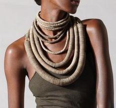 African Jewelry, Ethnic Jewelry, Boho Jewelry, Jewelry Art, Beaded Jewelry, Jewellery, Textile Jewelry, Fabric Jewelry, Africa Fashion