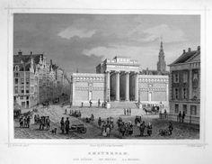 Amsterdam-de Beurs | Herkomst : J.L. Terwen - Het Koningrijk der Nederlanden, afm. 14 x 20 cm Staalgravure 1860