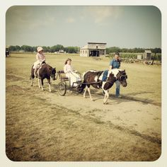 Driving the Pony Cart at Ingalls Homestead, DeSmet, South Dakota