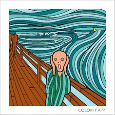 From Colorfy app for Kindle. Famous paintings!