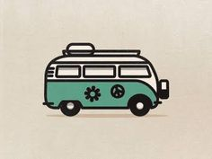bus One of the icons that goes in the icon set. I thought this one was too funny not to show you guys.One of the icons that goes in the icon set. I thought this one was too funny not to show you guys. Volkswagen Bus, Vw Camper, Icon Set, Vw Tattoo, Bus Drawing, Van Vw, 70s Icons, Bus Art, Combi Vw