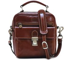 Cenzo Leather Field Bag satchel front