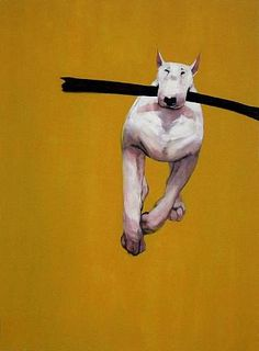 ray richardson does wonderful paintings of Bull Terriors, his site is unpinnable but worth seeing. Art And Illustration, Dog Artist, Arte Pop, Dog Portraits, Looks Cool, Animal Paintings, Animation, Fox Terrier, Bull Terriers