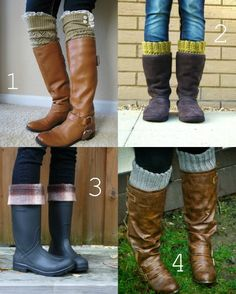 Boot cuffs!  So easy.  Good for using up leftovers too.