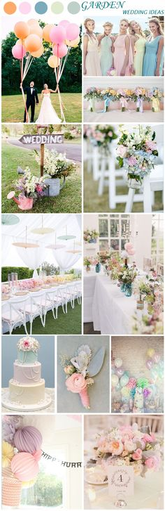 Soft Pastel Spring and Summer Wedding Ideas