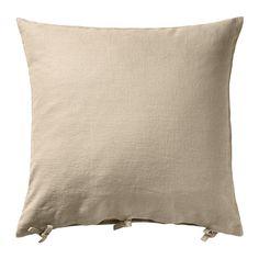 IKEA - URSULA, Kissenbezug, , Bezug aus Ramie, einem robusten Naturmaterial mit leicht unregelmäßiger Struktur.Dank der Bindebänder lässt sich der Bezug leicht abnehmen.