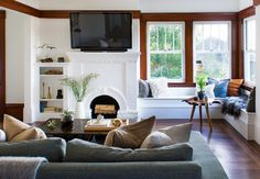 """Name: Brett Foken and husband Brandon Foken Location: Oakland, California Size: 1150 square feet Years lived in: Owned less than a year Interior designer, stylist and blogger Brett and her husband Brandon moved into this Oakland, California charmer in August 2016, but actually bought the house in March. They had to renovate the entire house before they could actually live in it; this 1900 Craftsman was the absolute definition of """"complete fixer-upper."""" And though the couple describe..."""