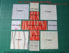 Dimensions for cross quilt via Rachel Wooden Spoon