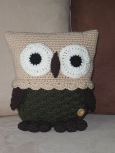 Gehaakt knuffel kussen uil van Hippe Haaksels op DaWanda.com  Crochet Owl