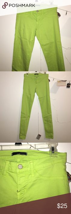 BRAND NEW Flying Monkey Skinny Jeans lime green, stretchy, brand new (without tags), NEVER worn, fits comfortable Flying Monkey Pants Skinny