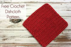 Crochet Dishcloth Patterns: A simple and free crochet dishcloth pattern - perfect for beginners! It is also my most popular crochet pattern!