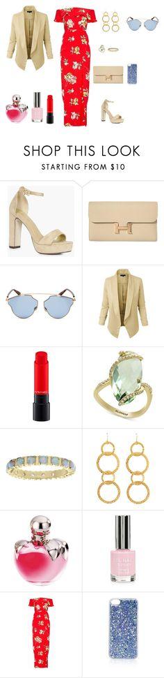 """casamiento"" by ananleke on Polyvore featuring moda, Boohoo, Hermès, Christian Dior, LE3NO, MAC Cosmetics, Effy Jewelry, Mia Sarine, Sylvia Toledano y Nina Ricci"