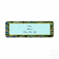 Peacock Wedding Address Labels #weddings
