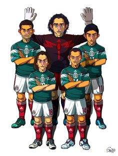 [2014 World cup Edition] A team : Mexico by sakiroo.deviantart.com on @deviantART