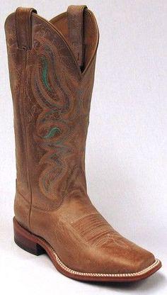 Womens Nocona Brown Square Toe Cowboy Boot