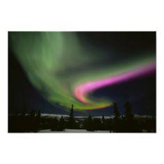 USA, Alaska, Chena Hot Springs. Aurora 2 Posters