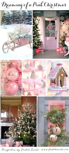 Holiday Ideas- Dreaming of a PINK Christmas  Ideas and Inspiration for pink holiday decor and styling--  @frostedevents