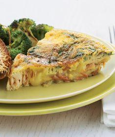 Salmon and Sweet-Potato Frittata (sub-in almond milk, and vegan cheese)