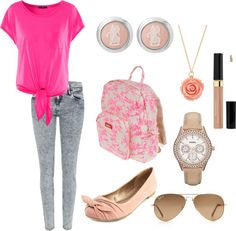 """""""School outfit"""" by gibaldin ❤ liked on Polyvore"""